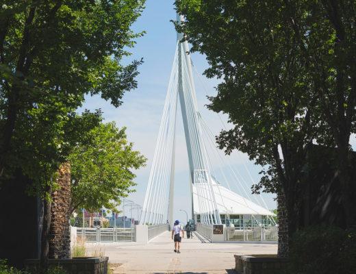 Winnipeg et le point se trouvant tout près du Musées des droits de l'homme