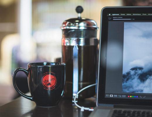 Steamdot coffee, anchorage, alaska, french press