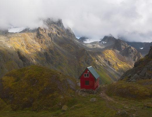 mint hut, trail, alaska