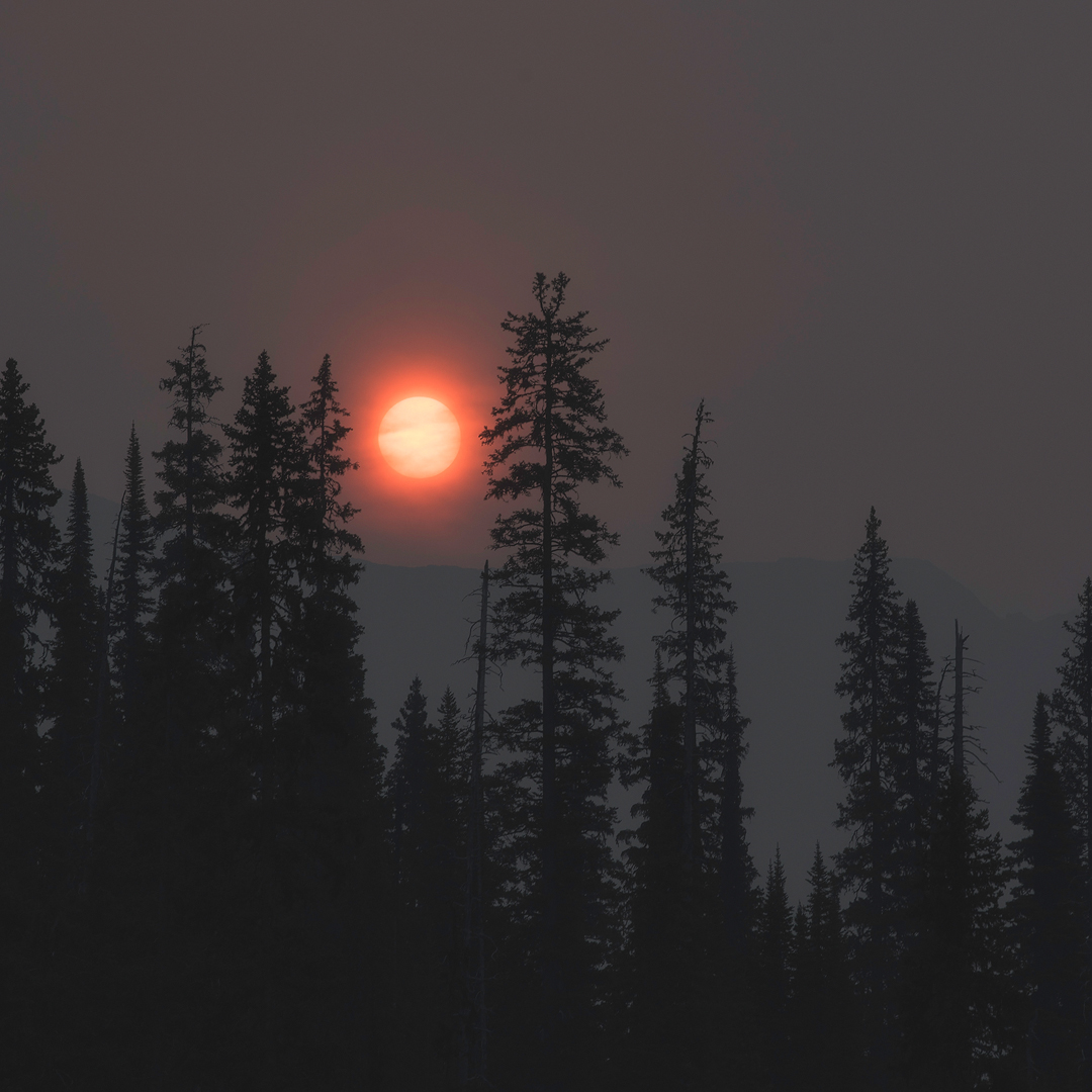 twin falls, iceline, yoho national park, canada, bc, parks canada, wildfire, smoke